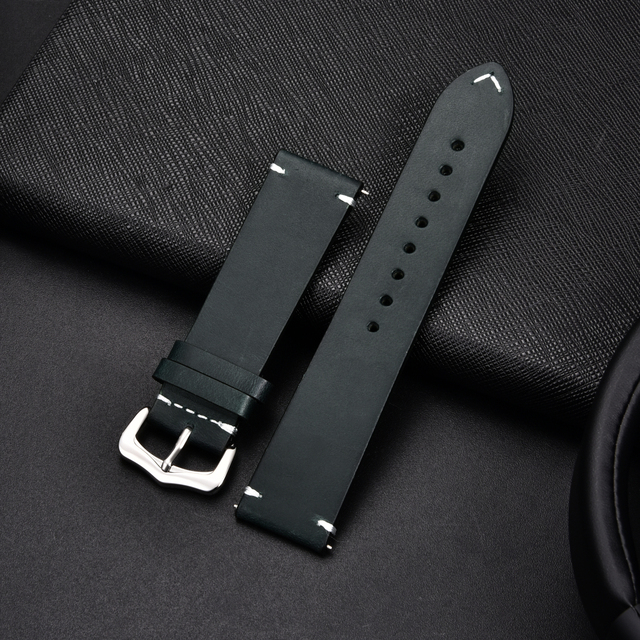 Retro Cowhide Leather Watchband (Multiple Colours) 2