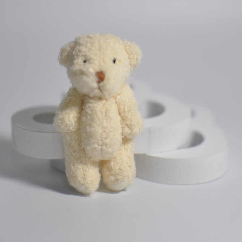 2/4PCS Mini Conjunta Urso de Pelúcia Brinquedos de Pelúcia 6.5 centímetros Bonito Branco Teddy Bears Pingente Dolls Presentes de Aniversário decoração de Festa de casamento