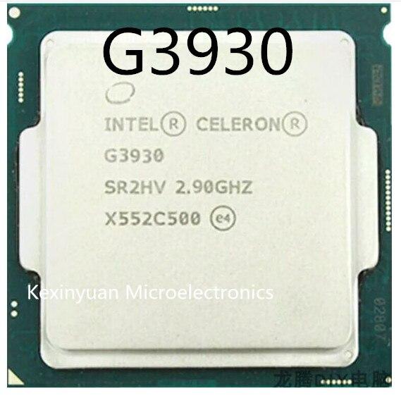 Processeur Intel Celeron G3930 CPU LGA1151 14 nanomètres double cœur 100% ordinateur PC de travail correctement processeur d'ordinateur de bureau