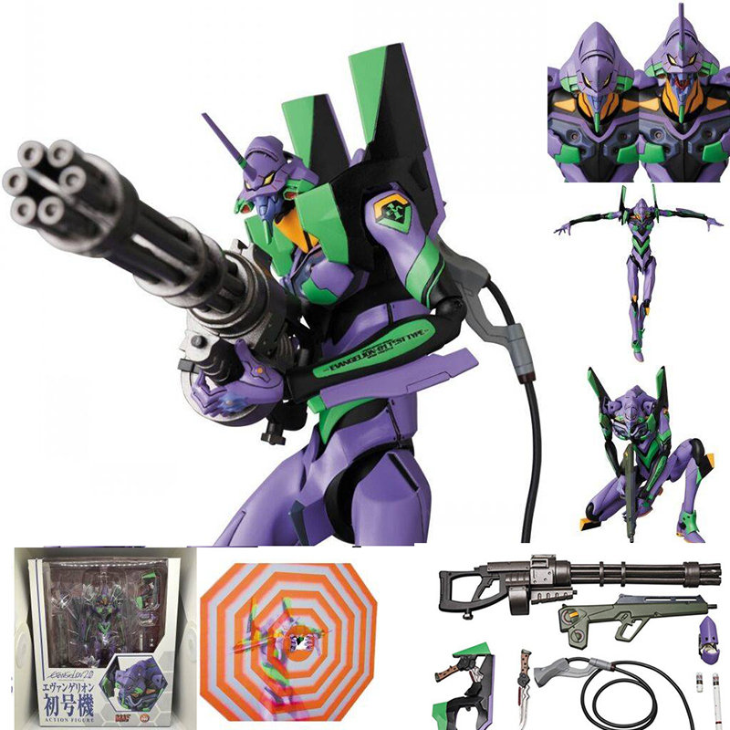 Mafex 080 <font><b>EVA</b></font> EVANGELION TEST TYPE <font><b>EVA</b></font>-<font><b>01</b></font> Action <font><b>Figures</b></font> Model Toys Brinquedos Gift image