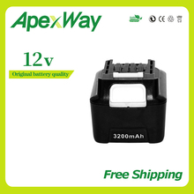 12v 3200mAh Rechargeable Battery for Makita BL1040 BL1040B BL1015 BL1020B BL1041 BL1041B BL1016 BL1021