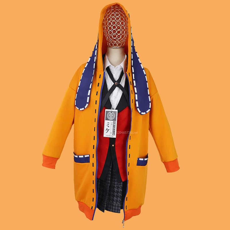 Amatop Disfraz de Cosplay de Kakegurui Yomoduki Runa Yumeko Jabami Cosplay Uniforme de Fiesta tem/ático de Halloween El Jugador Cosplay-Kakegurui Momobami kirari Yumemite Yumemi Disfraz de Halloween