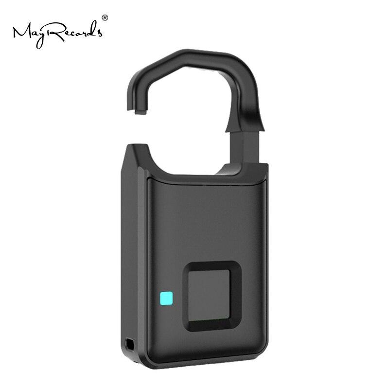 P4 Smart Fingerprint Door Lock Safe USB Charging Waterproof Anti Theft Lock Home Security in Safes from Security Protection