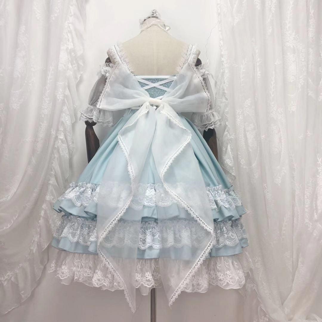 Princesa chá festa doce lolita vestido retro