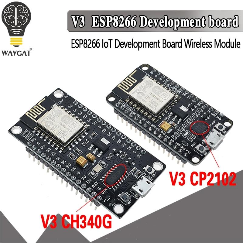 Беспроводной модуль V3 NodeMcu 4 м байт Lua WIFI Интернет вещей плата ESP8266 ESP-12E для Arduino совместимый CH340/CP2102
