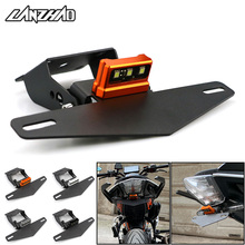 Motorcycle License Plate Frame Mount Bracket with LED Light for KTM Duke 125 200 250 390 2013 2014 2015 2016 2017 2018 2019