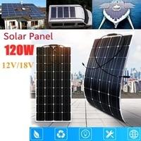 120W 36 Cells Flexible Monocrystalline Solar Panel with 20A Solar Controller for Car/Yacht/Steamship 12V 24 Volt 100 Watt Solar