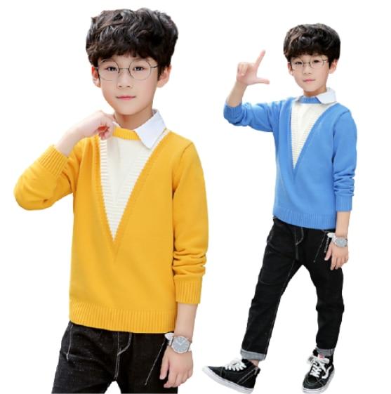 الفتيان البلوزات الخريف الشتاء البلوفرات سترة الاطفال ملابس الأطفال الملابس الدافئة أبلى الفتيان البلوزات في سن المراهقة زي غير رسمي