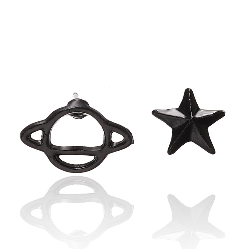 2020 New Trendy Simple Star Planet Shape Earrings for Women Wild Hollow Out Stud Earrings Party Female Jewelry Accessories