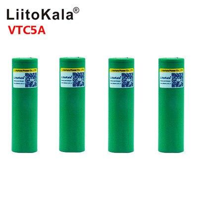 Liitokala 최대 40A 펄스 60A 원래 3.6V 배터리 18650 충전식 VTC5A 2600mAh 높은 드레인 40A 배터리