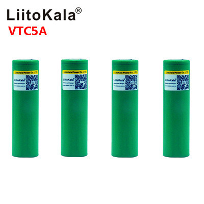 Аккумулятор Liitokala Max 40A Pulse 60A, 3,6 В, Перезаряжаемый 18650 аккумулятор VTC5A, 2600 мА · ч, аккумулятор 40A с высоким потоком