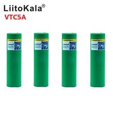 Liitokala Max 40A darbe 60A orijinal 3.6V pil 18650 şarj edilebilir VTC5A 2600mAh yüksek drenaj 40A pil