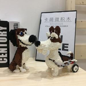 Image 2 - PZX Beagle Hound Schnauzer Dachshund جلد الغنم كلب الحيوانات الأليفة نماذج للحيوانات الأليفة لتقوم بها بنفسك كتل الماس الصغيرة الطوب بناء لعبة الأطفال لا صندوق