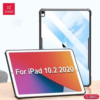 fundas ipad 10.2, XUNDD funda protectora para tableta, funda para iPad 8ª generación, funda para iPad 8, funda transparente