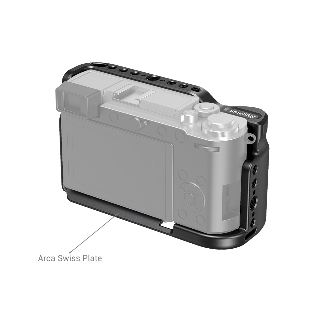 aluminum alloy SmallRig G9 Aluminum Alloy Cage for Panasonic G9 Cage With Arca Swiss Plate/Integreted Side Handgrip/NATO Rail-2411 (2)