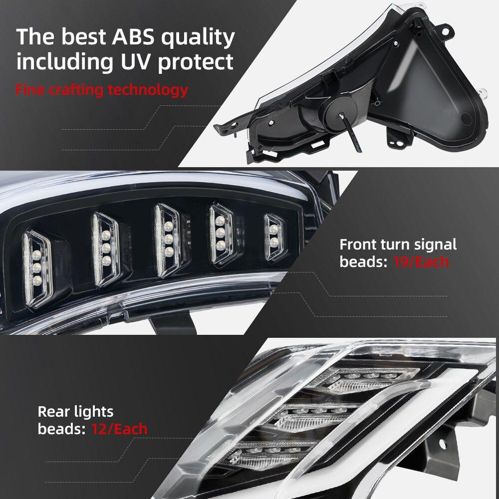 "E-MARK Moto 7//8/"" Guidon Fin DEL Turn Signal Light Indicators for HONDA"