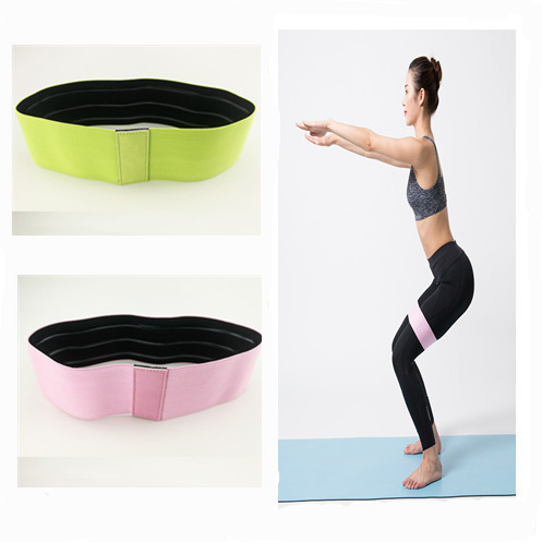 1PC New Resistance Bands Hip Circle Anti Slip Widen Rubber  Yoga Band Exercises Braided Elastic Band Hip Lifting Resistance Band