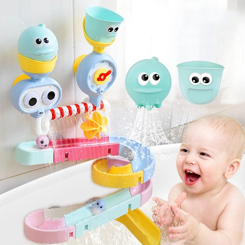 Bébé bain jouet ventouse piste jeux d'eau jouets été enfants jouer eau salle de bain bain douche eau jouet enfants cadeaux d'anniversaire