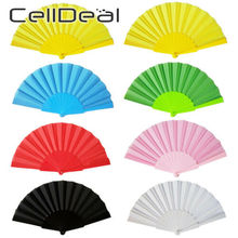 Fans Hand-Dancing-Fan Chinese-Decor Folding Japanese Party Portable Gift Plastic Solid