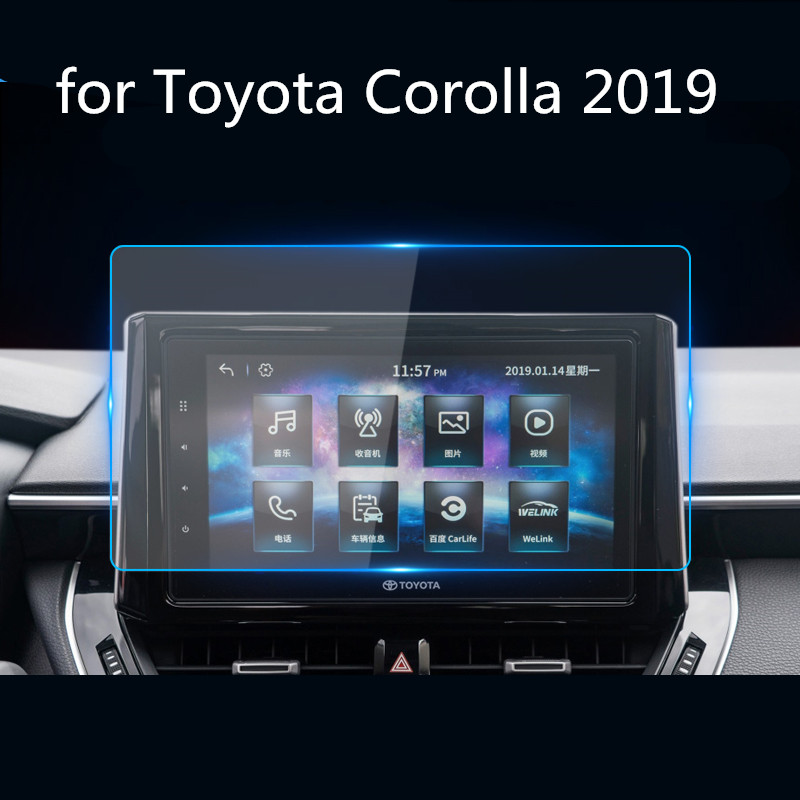 For Toyota Corolla 2019 Car Navigation Screen Protector Central Control Display Screen,tempered Glass Screen Protective Film