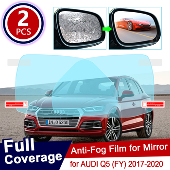 2Pcs for AUDI Q5 FY 2017 2018 2019 2020 Full Cover Anti Fog Film Rearview Mirror Rainproof Clear Anti-fog Films Car Accessories image