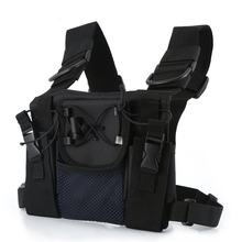 Radio Harness chest Front Pack Pouch Holster Carry bag for Baofeng UV-5R UV-82 UV-9R BF-888S TYT For Motorola Walkie Talkie(China)