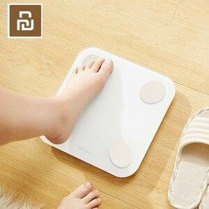 Image 3 - Умные весы Youpin YUNMAI Mini 2 для определения веса жира в теле, скрытый светодиодный дисплей с приложением на английском языке, умные весы для тела