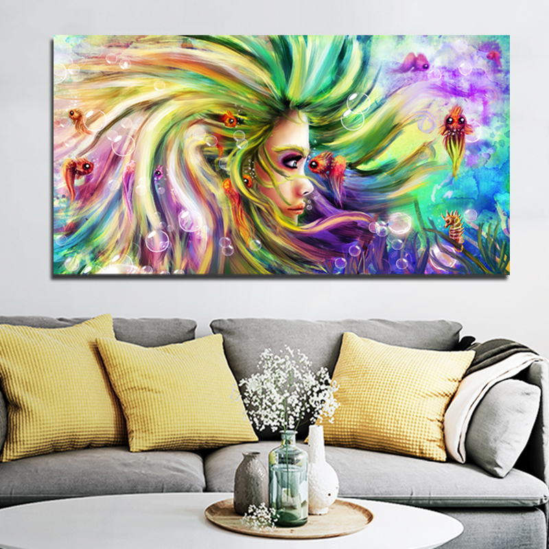 Selflessly Colorful Canvas Painting