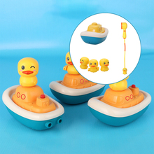 Toddler Baby Electric Duck Water Spray Bath Shower Toys Water Pump Sprinkler, 3 Spraying Modes