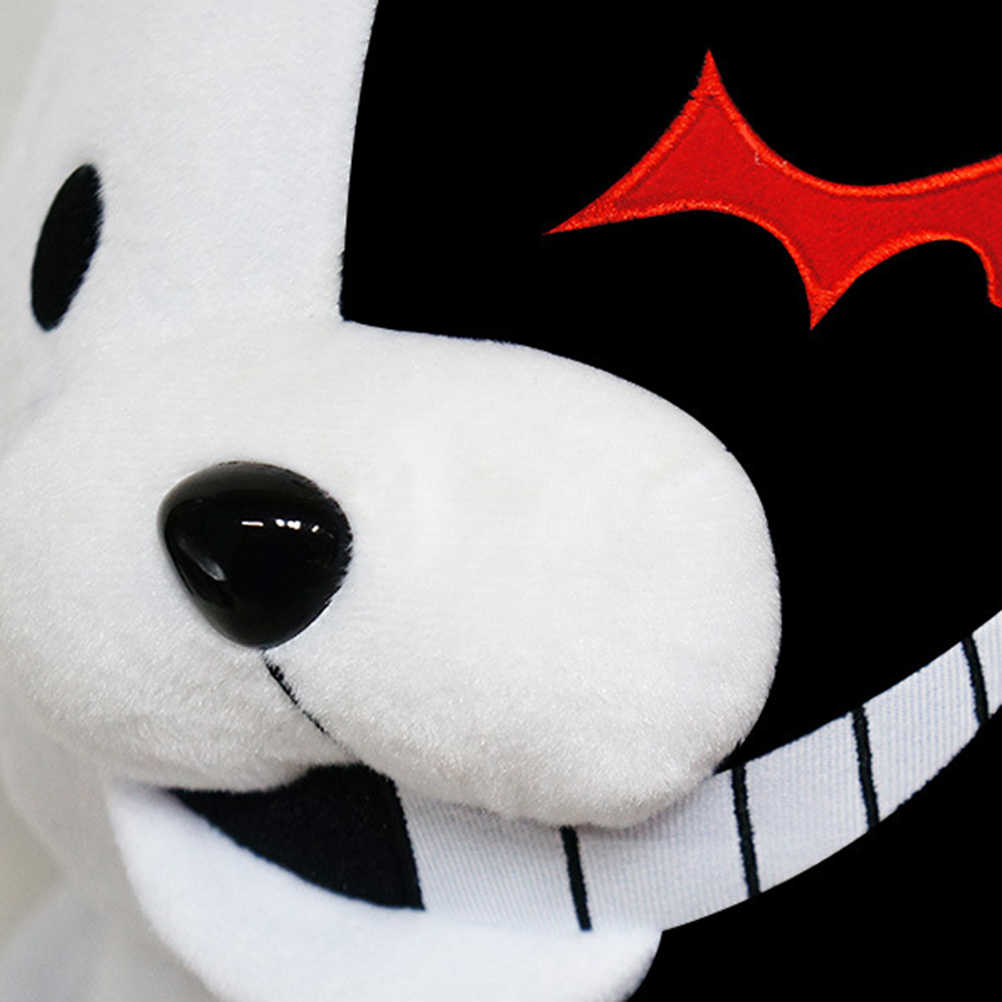 1pcs การ์ตูนตุ๊กตาสัตว์สีดำสีขาวหมีสีชมพูสีขาวกระต่ายตุ๊กตาของเล่นตุ๊กตา Plush สำหรับเด็กสาว Xmas ของขวัญ
