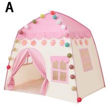 Składany namiot dla dzieci przenośne namioty dla dzieci tipi duży domek do zabawy łóżko dla dzieci namiot BJStore tanie tanio DUSTPROOFVEIL Bi-rozstanie Moskitiera Czworoboczny Domu Podróży Mosquito Pałac moskitiera Owadobójczy traktowane 100 bawełna