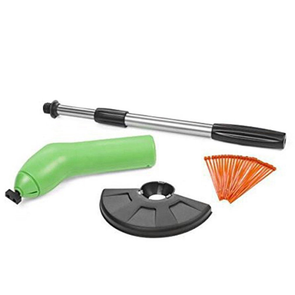 Zip Trim Cordless Trimmer Edger Works With Standard Zip Ties Portable Extendable Trimmer With Protective Shield Garden Weeder