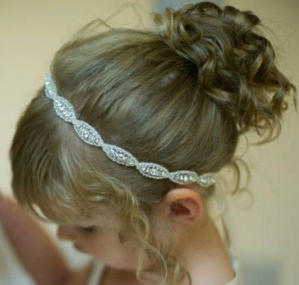 Yundfly Lovely Baby Girls Princess Flower Hairband Kids Children Rhinestone Headband Headwear Elastic Hair Band Accessories