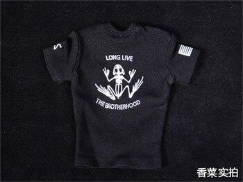 Camiseta táctica de soldado Top SEAL Team Six Skull Frog de punto negro para colección a escala 1/6