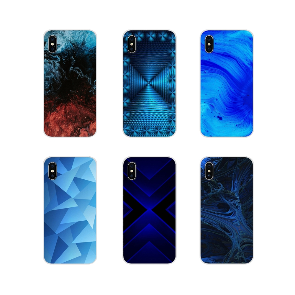 Blue Wallpaper For Samsung Galaxy S3 S4 S5 Mini S6 S7 Edge S8 S9 S10 Lite Plus Note 4 5 8 9 Accessories Phone Shell Covers Phone Case Covers Aliexpress