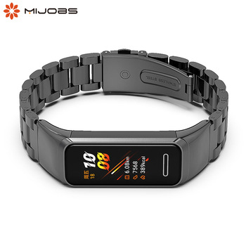 For Huawei Band 4 Strap Smart Wristband Stainless steel Metal Bracelet Band for Huawei Honor band 5i Compatible band 4 Correa huawei honor a1 uv testing smart bracelet leather band black
