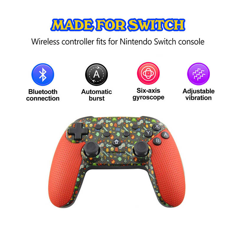 Untuk Switch Pro Nirkabel Bluetooth Controller NS Remote Gamepad untuk Nintend Switch Konsol Joystick Game Pad untuk PS3 PC Android