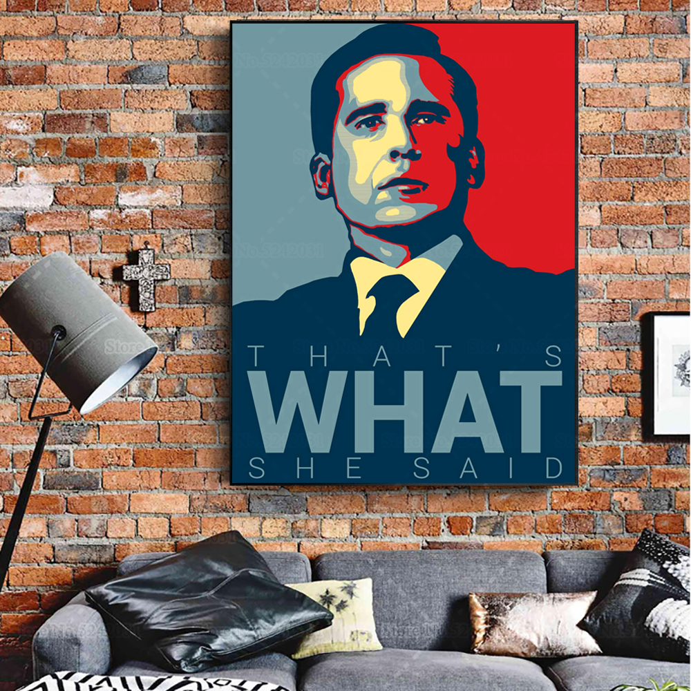 The Office Hope Poster Michael Scott Quote That's What She Said Vintage Style Canvas Painting for Living Room Decoration image