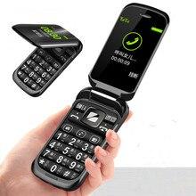 Откидной многофункциональный мобильный телефон Z9 с двойным дисплеем, две sim-карты, большой ключ, большой шрифт, сильная вибрация, мобильный телефон, подарок, настольное зарядное устройство