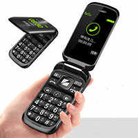 Flip Senior Feature Mobile Phone Z9 Dual Display Dual Sim Big Key Large Font Strong Vibration Cellphone Gift Desk Charger
