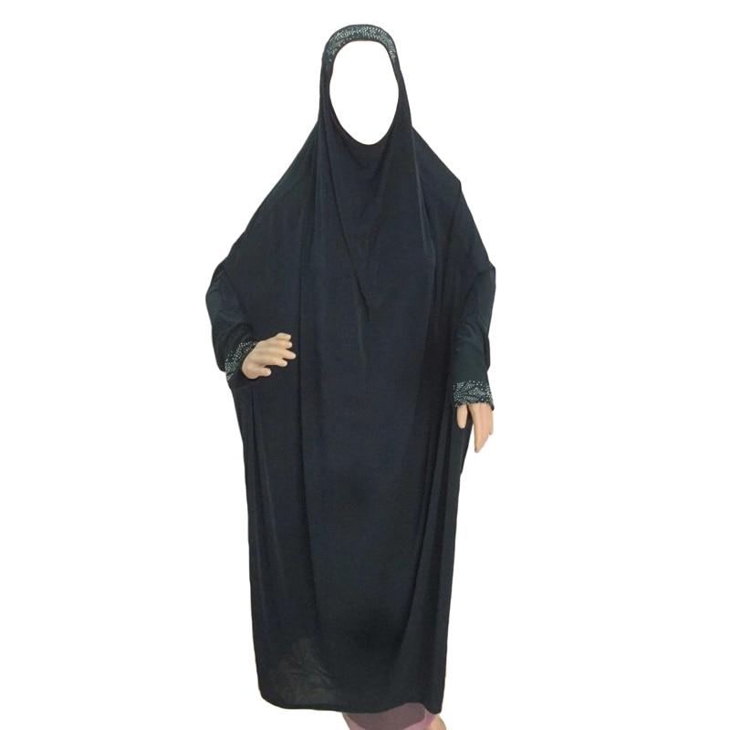 Muslim Burqa Abaya Women Hijab Prayer Dress Islamic Overhead Jilbab Burka Niqab Long Khimar Kaftan Robe Arab Loose Middle East