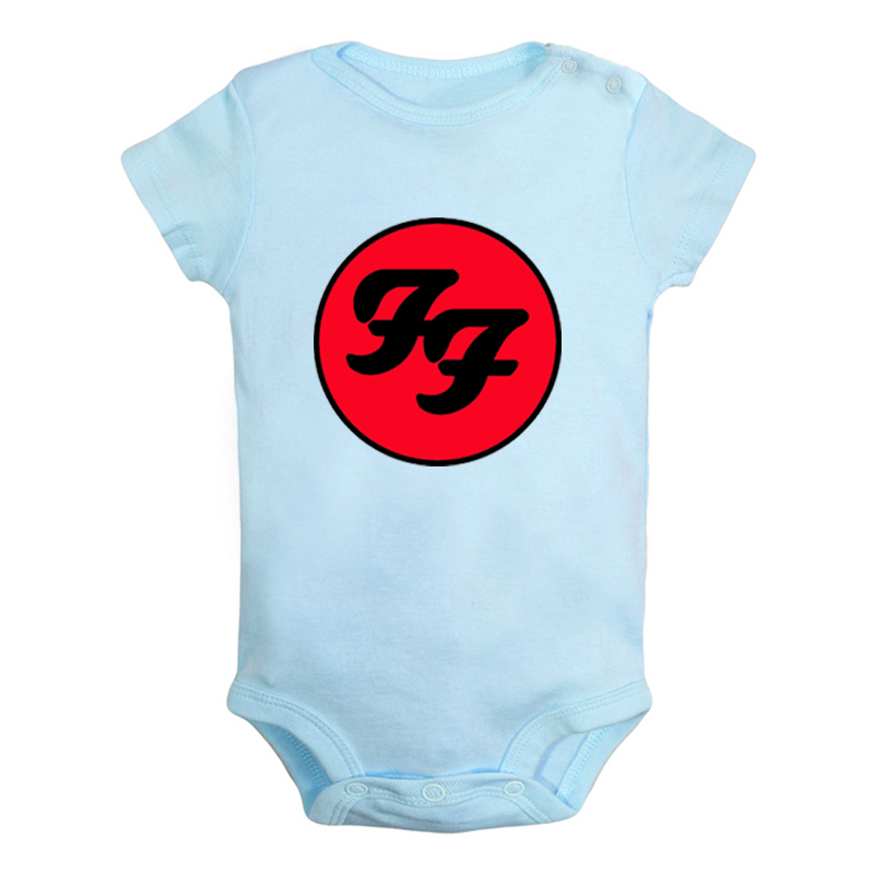 Foo Fighters Hard Rock And Roll Band Van Halen Band Newborn Baby Boys Girls Outfits Jumpsuit Print Infant Bodysuit Clothes