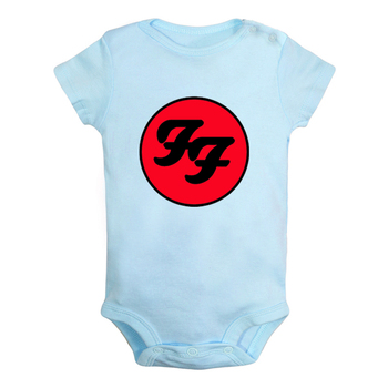 Foo Fighters Hard Rock And Roll Band Van Halen band Newborn Baby Boys Girls Outfits Jumpsuit Print Infant Bodysuit Clothes цена 2017