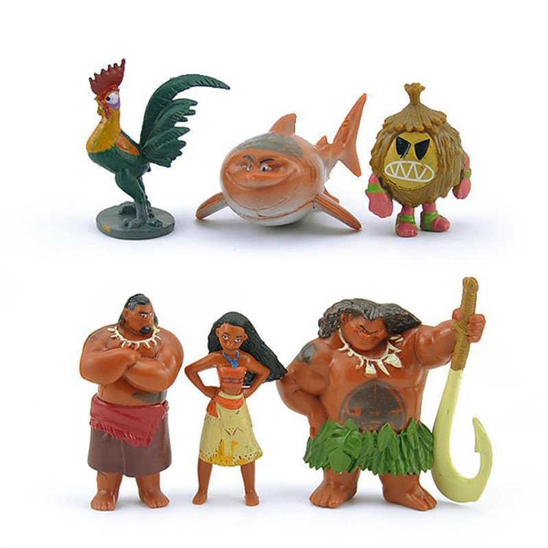 12pcs Set Moana Maui Waialik Heihei PVC Movie Action Figures Dolls Toys Kid gift