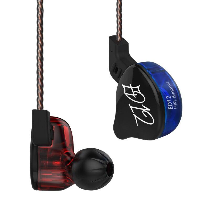 KZ ED12 DD наушники с тяжелыми басами, кабель управления, музыка «Пшеница», мобильный телефон, гарнитура, Hi-Fi наушники AS10 ZS5 ZS6 ES4