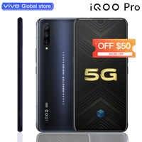 """Téléphone portable d'origine vivo iQOO Pro 5G snapdragon 855 Plus 4500mAh 44W 6.41 """"écran 48MP caméra 12GB 128GB téléphone portable celulaire"""