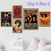 The Doors Vintage Poster decoración para el hogar cartel retro de Kraft rock póster de banda de rock póster de estrella musical cuadros de pared