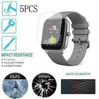 5pcs morbido Tpu trasparente pellicola protettiva per Xiaomi Huami Amazfit Gts / Gts 2 Sport Smart Watch copertura protettiva per schermo intero #3