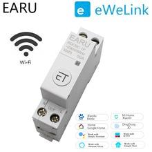 Switch-Relay Circuit-Breaker Rail Remote-Control WIFI Smart-Timer Alexa 1p Din Ewelink-App