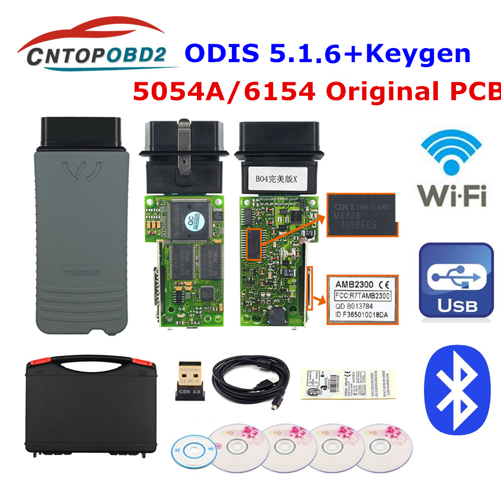 Original OKI 5054A ODIS V5.1.3 Bluetooth AMB2300 Chip 6154 ODIS 5.1.5 Odis 5.1.6 5054A UDS Full Chip For VW/AUDI Diagnostic Tool